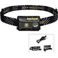 Nitecore NU25 Head Torch - 360 Lumen LED USB Rechargeable Headlamp – Lightweight Waterproof Headtorch with Red Light
