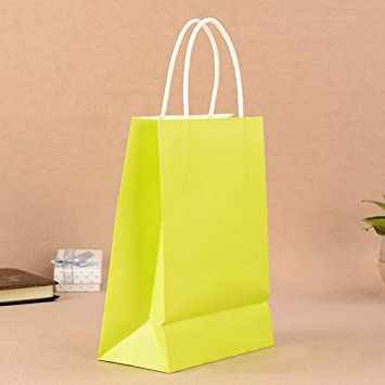 1 bolsa de regalo de papel kraft con asas reciclables (21 x ...