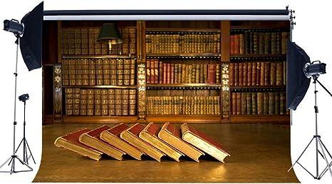 JoneAJ Vinilo 7X5FT Fondo estantería Librería Vintage Telones Fondo Retro Biblioteca Antigua Sala Estudio Europea Decoración Interior Fotografía Fondo para Adultos Estudio fotográfico YX299: Amazon.es: Electrónica