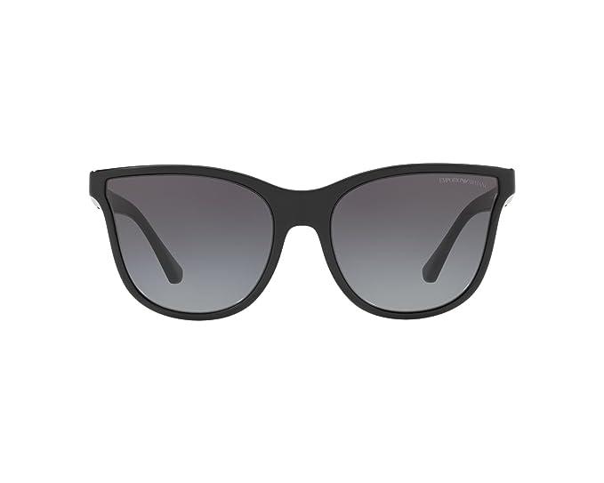 b9e90f46b1 Image Unavailable. Image not available for. Colour  Emporio Armani EA 4112  BLACK GREY SHADED women Sunglasses