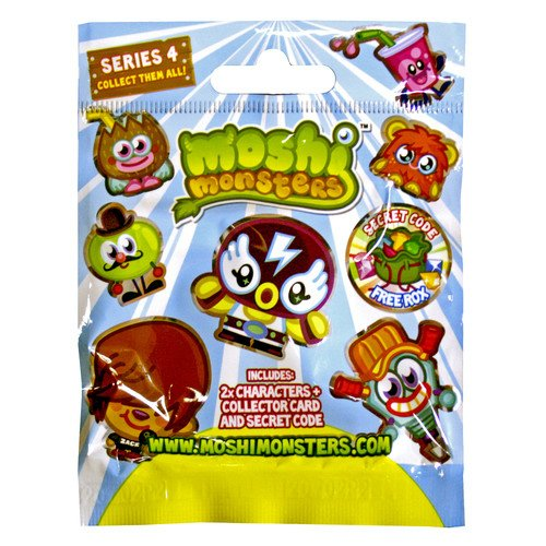 Moshi Monsters Moshlings Figures Series 4 Foil / Blind Bag (contains 2 (Moshi Monsters Codes For Rox That Work)