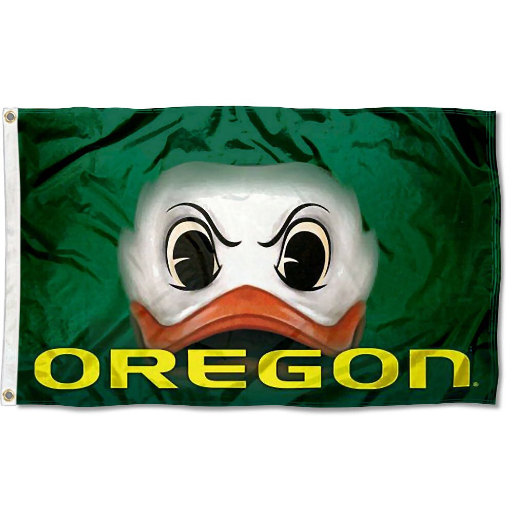 Oregon Ducks Duck Eyes College Flag