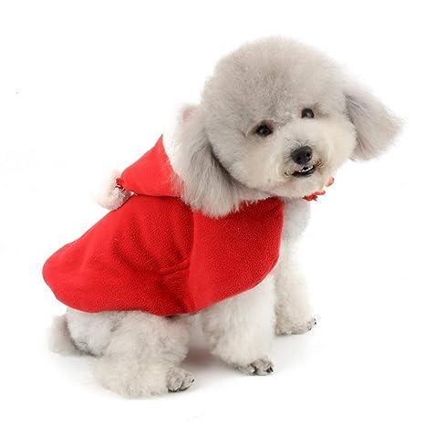 SELMAI Disfraz de Papá Noel con Capucha para Perro Gato o ...