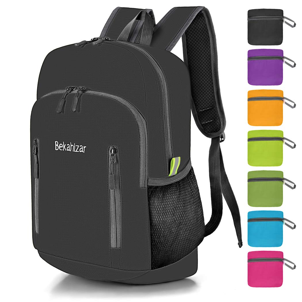 e926ee334f7f Amazon.com   Bekahizar 20L Ultra Lightweight Backpack Foldable ...