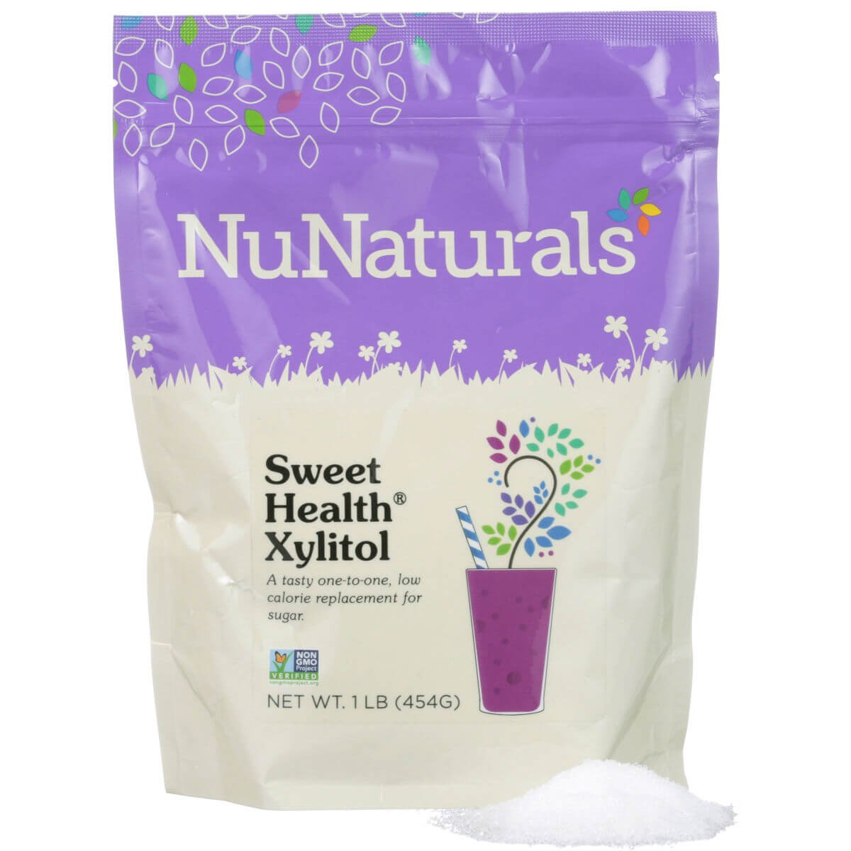 NuNaturals - Sweet Health Pure Xylitol (Keto Diet Friendly) - Natural Sweetener Non GMO - Gluten Free - 1 lb by NuNaturals