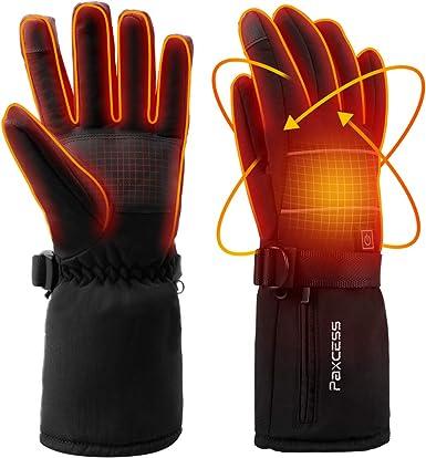 Waterproof Electric Heated Gloves w//Battery Winter Hands Warming Ski//Snowboard