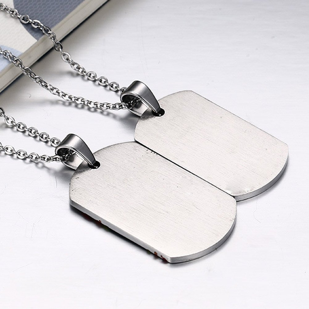 LF 2Pcs Stainless Steel Gay Pride Couple Necklace Rainbow Pride LGBT Lesbian Heart Matching Puzzle Gay Inspirational Friendship Pendant Necklaces with Gay Pride Flag Gift for Marriage Engagement