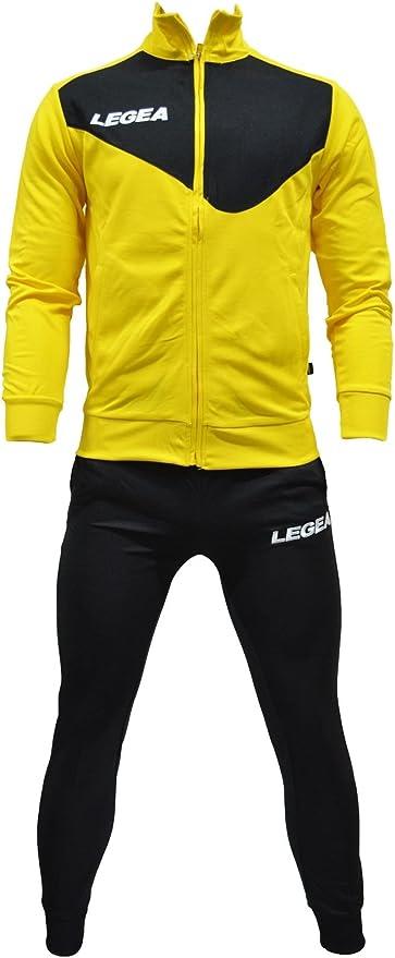 Legea - Chándal modelo Messico Tempesta. Amarillo y negro, TG S ...
