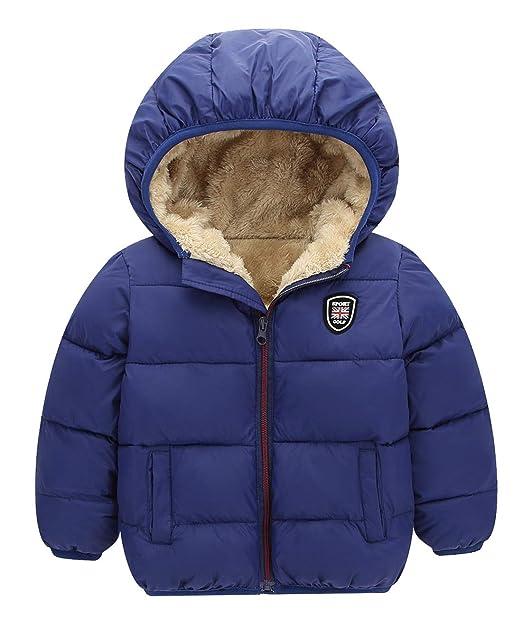Amazon.com: Chaqueta gruesa de invierno para niños y niñas ...