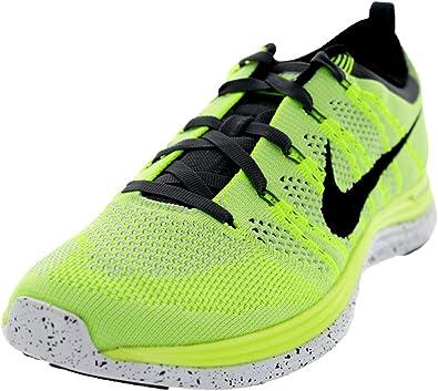 Superficie lunar de Tacón  Amazon.com   Nike Women's Flyknit One Volt/Black-Pure Platinum, Style -  Color 554888-701 size11   Road Running