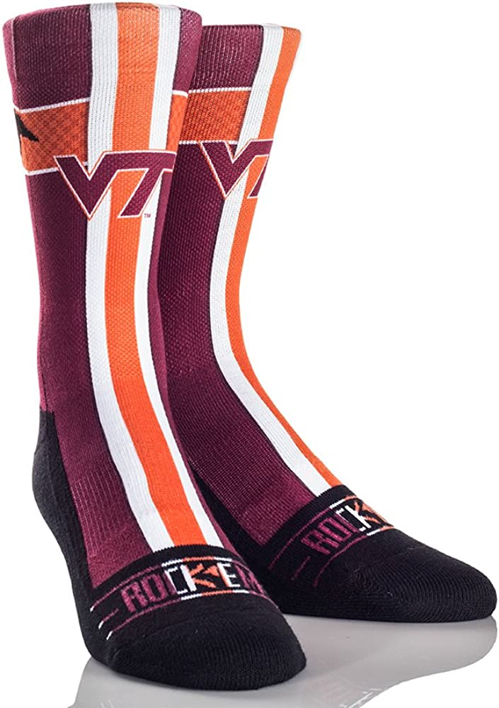 Rockem Apparel Virginia Tech Hokies Custom Athletic Crew Socks