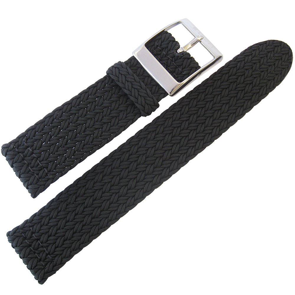Eulit Palma Pacific 22mm Black Perlon Watch Strap