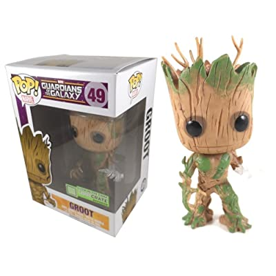 Funko POP! Vinyl Marvel Guardians of the Galaxy Groot Glow In The Dark Exclusive: Toys & Games