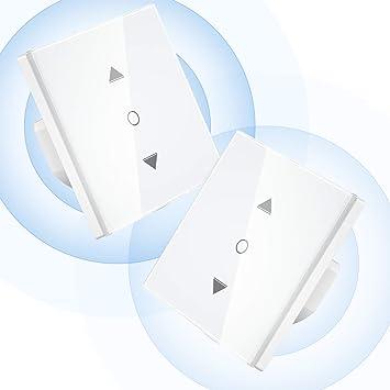 Maxcio Interruptor Inteligente Control por Porcentaje de APP Y Voz Compatible con Alexa y Google Home 【Porcentaje Upgrade】Interruptor Persianas WiFi con Temporizador para Motor Persiana Tublar