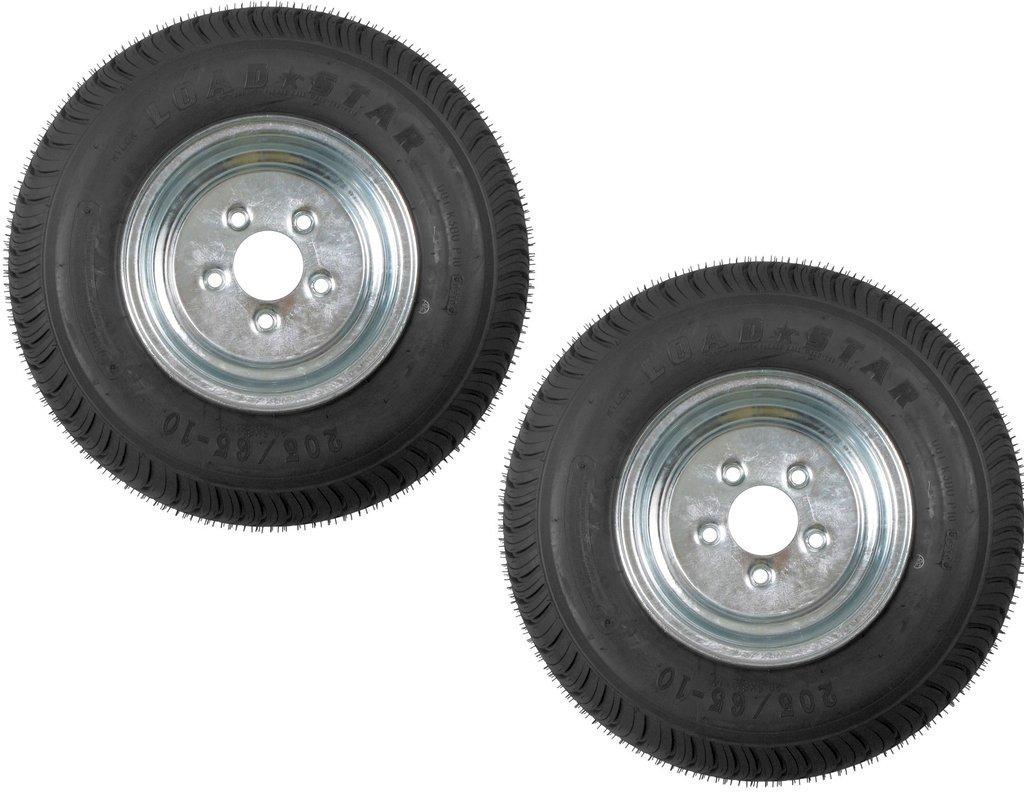 2-Pack eCustomrim 852 Trailer Tire & Rim 205/65-10 Galvanized 10 x 6 5H Bias C