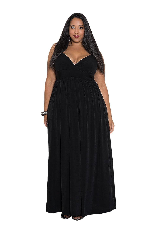 SWAK Designs Womens Plus Size Sleeveless Maxi Sabrina Maxi Dress ...