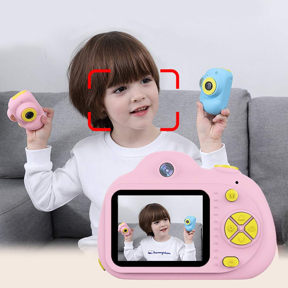 Tueker Kids Camera Toys Gifts for 4~8 Years Old Girls, Shockproof Kids Video Camera & Camcorder with Soft Silicone Shell for Outdoor Play, Pink by Tueker (Image #5)