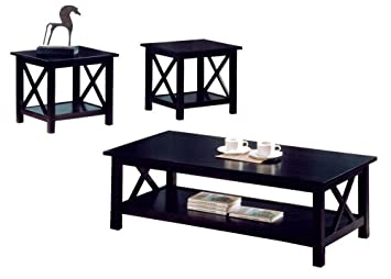 Pleasing Coaster Home Furnishings New Cappuccino Wood Coffee Table Set Wooden End Tables Alphanode Cool Chair Designs And Ideas Alphanodeonline