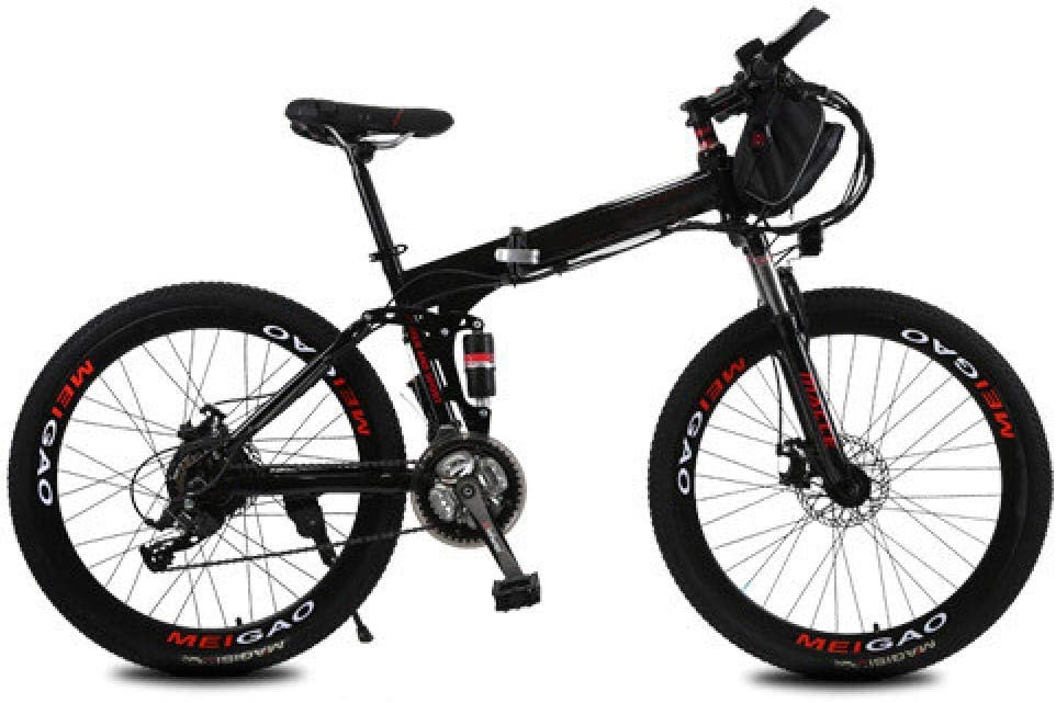 KNFBOK Bicicleta eléctrica Plegable de Litio, 26 Pulgadas, 21 ...