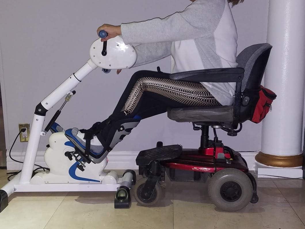 Fitness Motorized Electric Mini Exercise Bike//Pedal Exerciser RJ-Modini White
