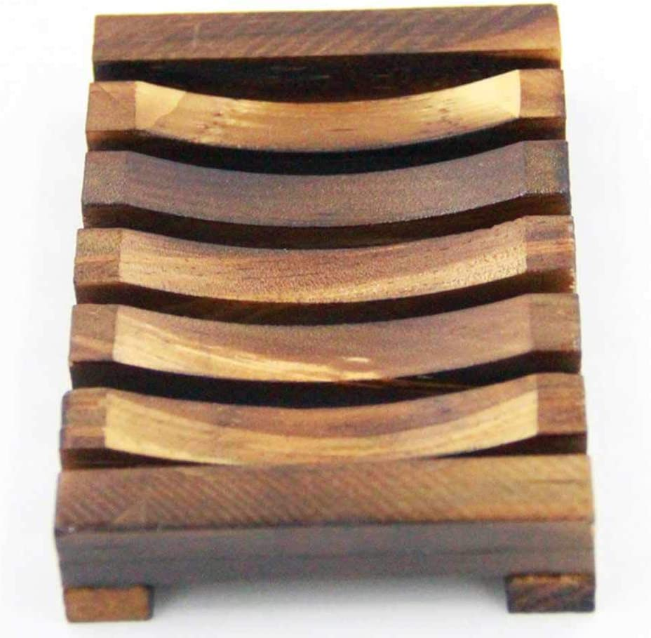 Ogquaton - Jabonera de madera para mampara de ducha de baño, caja de madera, para lavar en casa, jabón de baño y mostrar la bandeja de esponja, práctico y práctico: Amazon.es: Amazon.es