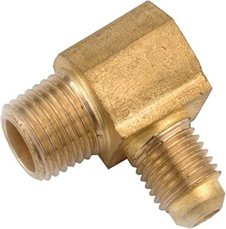 Anderson Metals 754049-0406 3//8-Inch by 1//2-Inch Low Lead Flare Elbow Brass
