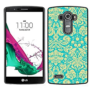 For LG G4 , S-type® Yellow Vintage Retro Wallpaper Pattern - Arte & diseño plástico duro Fundas Cover Cubre Hard Case Cover