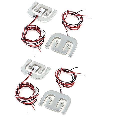 sourcingmap® 4 pcs cuerpo Sensor de pesaje celda de carga de tensión de la resistencia