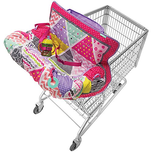 infantino-compact-2-in-1-shopping-grocery-cart-and-high-chair-cover-for-baby-pink
