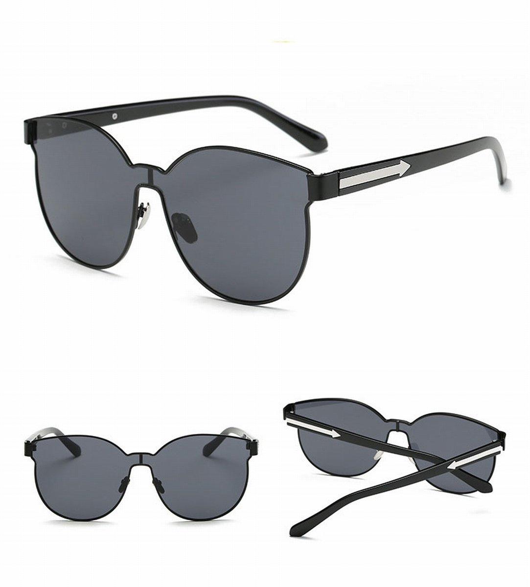 Große rahmen sonnenbrille verbunden Linse individualität Pfeil sonnenbrille mode damen sonnenbrille goldrahmen WBrSt0z
