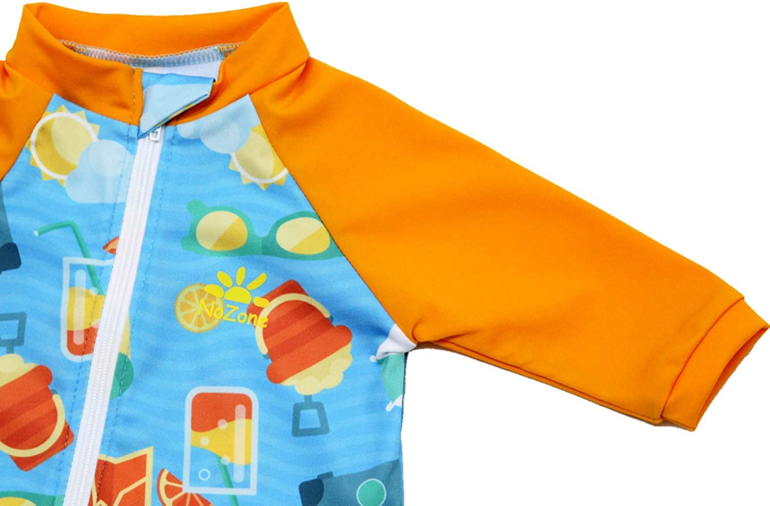 in Your Choice of Colors UPF 50+ Nozone Tahiti Full Zip Sun Protective Baby Swimsuit