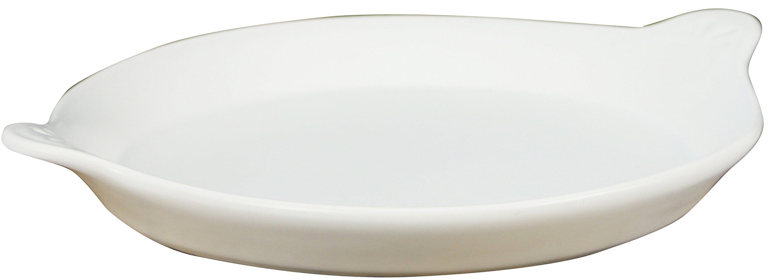Eurita by Reston Lloyd Flame Safe Au Gratin Porcelain Pan, Large, White by Reston Lloyd (Image #1)