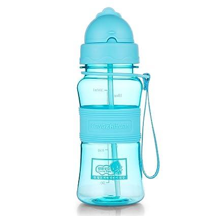 043d3b9bcd23e qileyin botella de agua con tapa con pajita plástico Tritan libre de BPA  botella niños 300