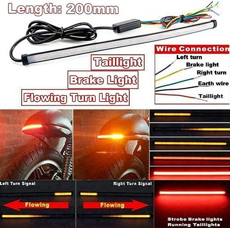 Motorrad Led Blinker Licht Rückleuchten Motorrad Led Streifen Streifen Zubehör 1 Stück 12 24v Dc Sequential Küche Haushalt