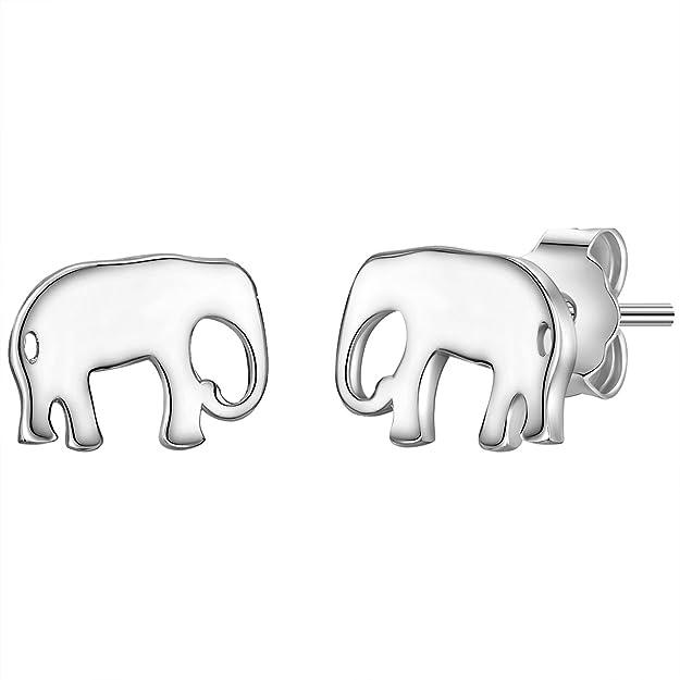 Glanzstücke München Pendientes Perno De Mujer Elefant Plata De Ley/Esterlina