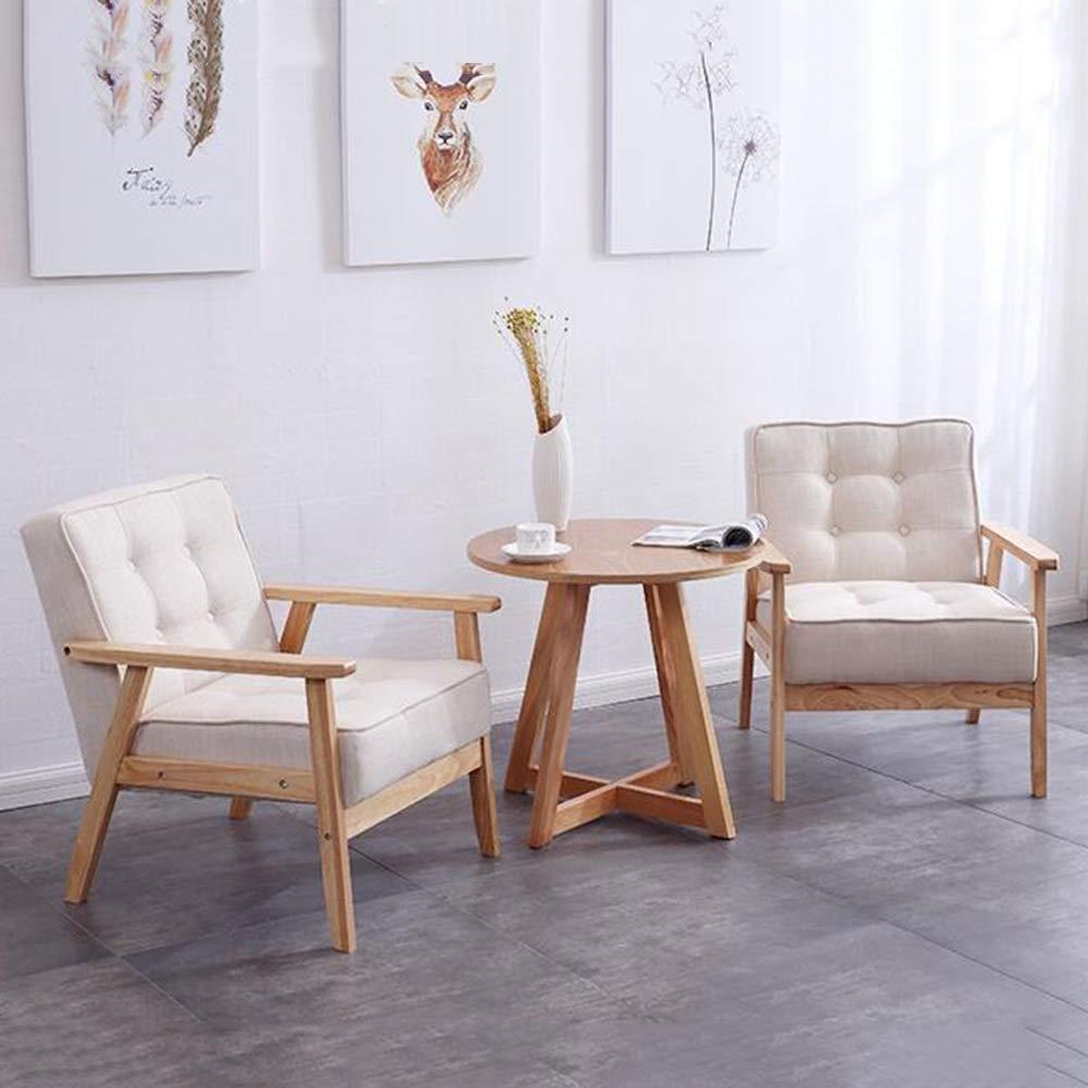Amazon.com: QQXX CJC - Sillones de madera maciza, de piel y ...