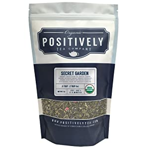 Positively Tea Company, Organic Secret Garden, Green Tea, Loose Leaf, 16 oz. Bag