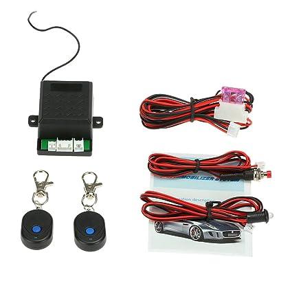 KKmoon Inmovilizador Coche Sistema de Alarma Protector con 2 ...