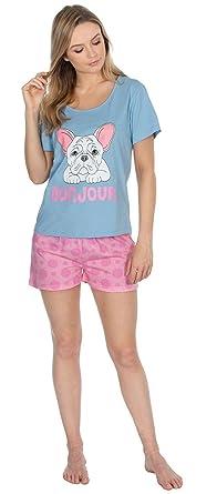 89134e2937 F4S® Womens 100% Cotton Vest Top and Varied Leg Pyjamas in Plain ...