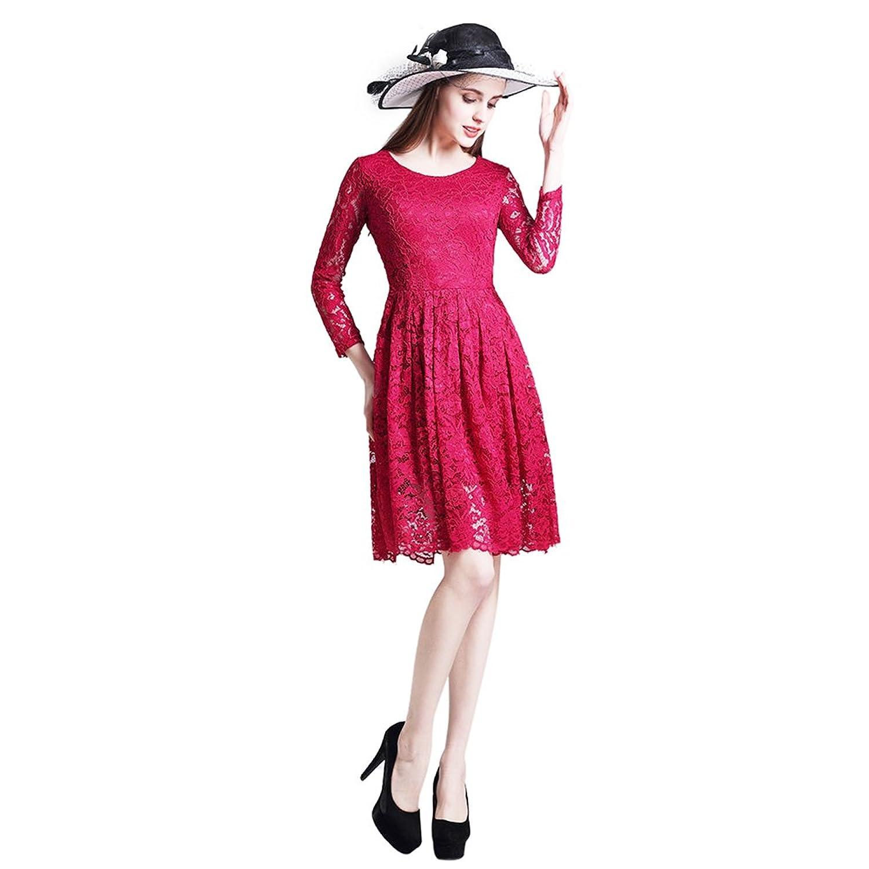Clasichic Damen Spitzenkleid Cocktailkleid Partykleid Abendkleid mit ...