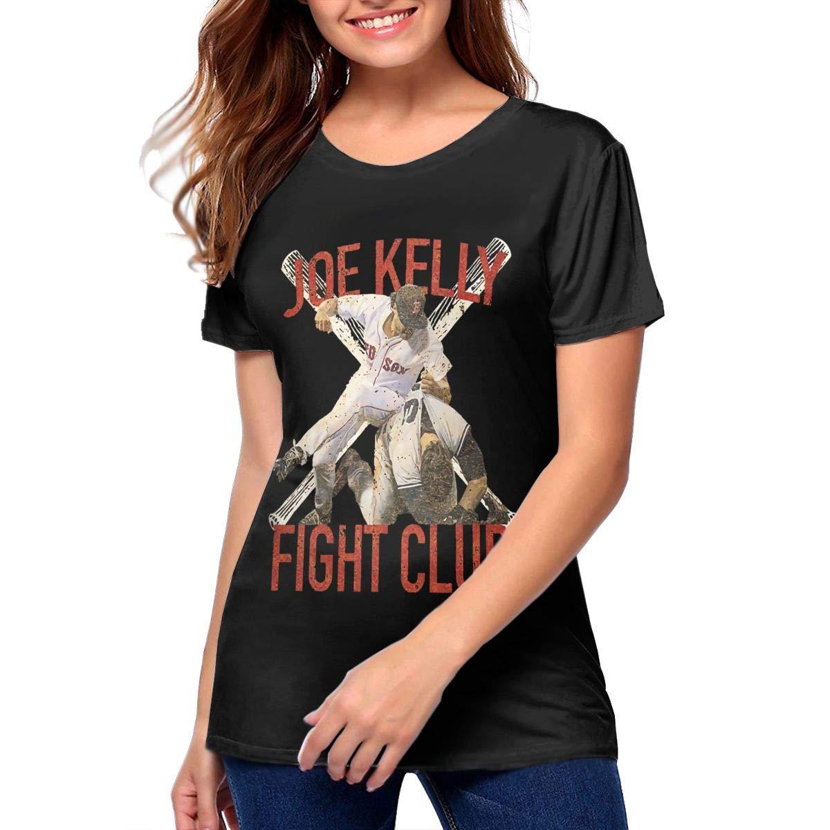Tammyrlewis Women S Joe Kelly Fight Boston Baseball Club Casual Fashion S Black Shirts