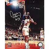 NBA Anthony Mason Slam Dunk Over Olajuwon Vertical Autographed 8 x 10-Inch Photograph
