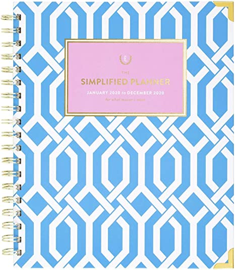 Emily Ley Simplified Weekly 2019 Fashion Planner Calendar Pink Floral Gold New