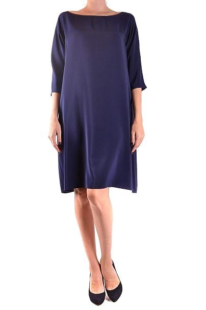 755b8aa294 ASPESI Vestito Donna MCBI36056 Seta Blu: Amazon.it: Abbigliamento