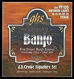 GHS Strings PF135 J.D. Crowe Signature Series (Stage), 5-String Stainless Steel Banjo Strings (.010-.020)