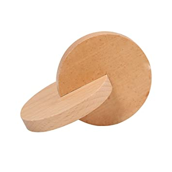 Montessori Materials Wooden Interlocking Discs Toys for Toddlers 2.2