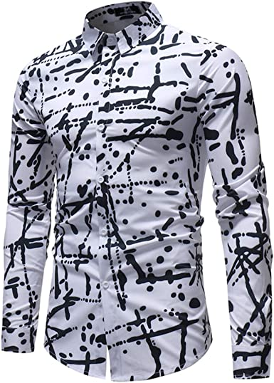 BESBOMIG Camisas Hawaianas Manga Larga Casual Tops - Slim Fit Negocio Playa Verano Unisex Funky Camisa Hawaiana L-5XL: Amazon.es: Ropa y accesorios