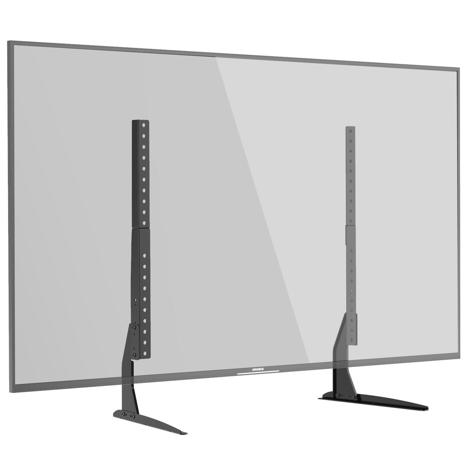 "1homefurnit Universal Tabletop TV Stand Pedestal Mount Monitor Riser fits 22""-65"" Screens Supports VESA 800x400mm, 600x400mm, 400x400mm, 400x200mm and 200x200mm"