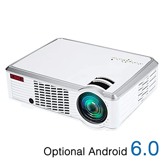 TONGTONG Proyector LED Android proyector HD 1280x720 resolución 3D ...