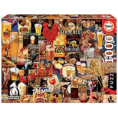Educa Borras 1000 Collage Birra Vintage Puzzle Multicolore 17970
